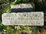 2014 Laura's plaque, cleaned by by Alex Rochead