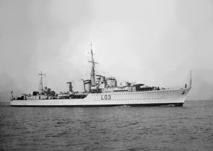 1941 HMS Cossack sank by torpedo