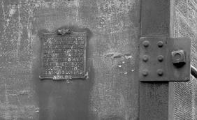 1919 Plaque next to door