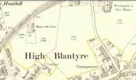 1897 Map showing Broompark at top right