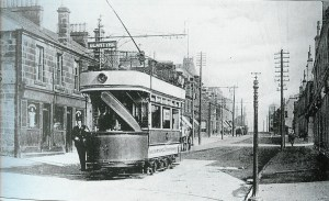 1905 Glasgow Road and the Number 4 tram