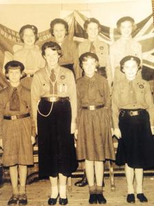 1956 Girl Guides at Blantyre Old Parish Church