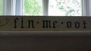 The Original 1960s Fin Me Oot Sign