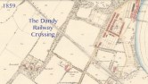 1859 Map showing Dandy Crossing