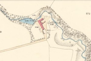 1859 Map showing Letterick Mill