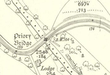 1910 Priory Bridge Map but no house!