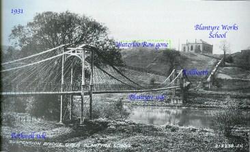 1931 Suspension Bridge at Blantyre works