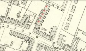 1936 Map showing Alpine Street Tenements