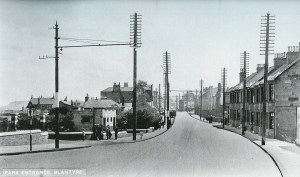 1936 Glasgow Road following tram removal