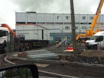 2012 Construction of new SEBN school, Bardykes Rd. Photo by PV