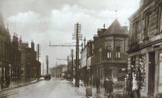 1927 Glasgow Road at John Street looking West