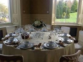 2014 Wedding table set for show at Crossbasket Castle