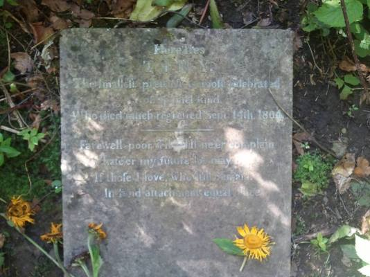 """1804 """"Tiny"""" laid to rest shared by John Duffy"""