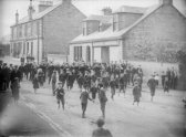 1905 Main Street Flute Band in Main Street by D Ritchie