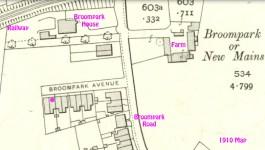 1910 Broompark Avenue map