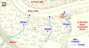 1910 Map showing River Clyde and outfalls