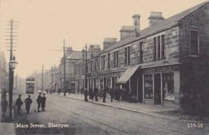 c1910 Tram at Glasgow Road