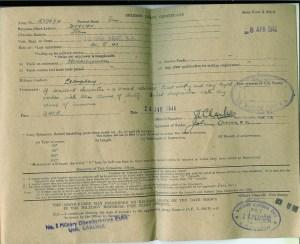 1946 John Duncan Military Leave