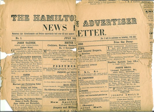 1856 Hamilton Advertiser (PV)