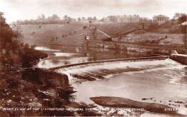 Early 1930s Weir on River Clyde at Village works
