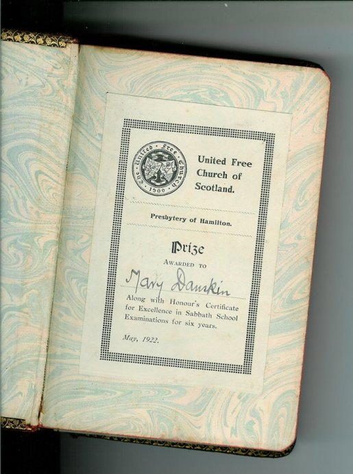 1922 Bible Prize Mary Danskin (PV)