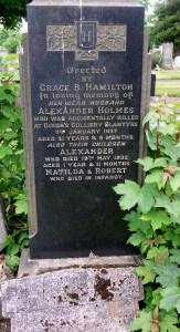 Alexander Holmes Grave. shared by R Stewart