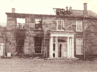 2001 Craighead Retreat aftermath of fire
