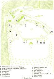 1953 Livingstone Memorial Map