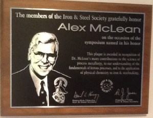 1998 Alex McLean - honoured. Sent by Betty McLean