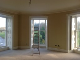 2014 Dec. Painting to the bedrooms at Crossbasket Castle