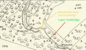 1938 Calderside Map at the Fountain Pool