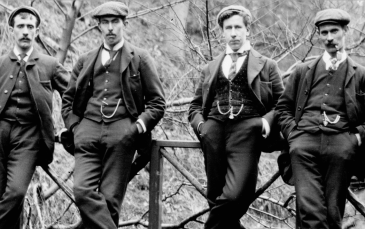 1908 Part of Auchentibber Quoiting team at the Hermitage