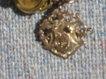 1910 J Nimmo Quoiting Medal first prize. This medal has his initials on the front: JN On the back it says: A.Q.C. 1st Prize won by J. Nimmo 1910