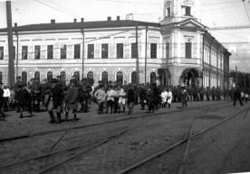 1918 Royal Scots arrive in Archangel, Russia.