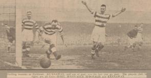1935 Blantyre Vics vrs Parkhead Football Club 9th Feb.