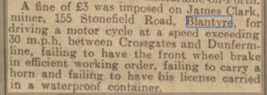 1935 Clark motoring offences.