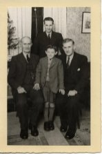 1949 4 Generations of Nimmo's, James, Robert James, and little Jim