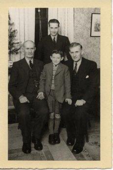 1949 4 Generations of Nimmo's, James, Robert James, and little Jim
