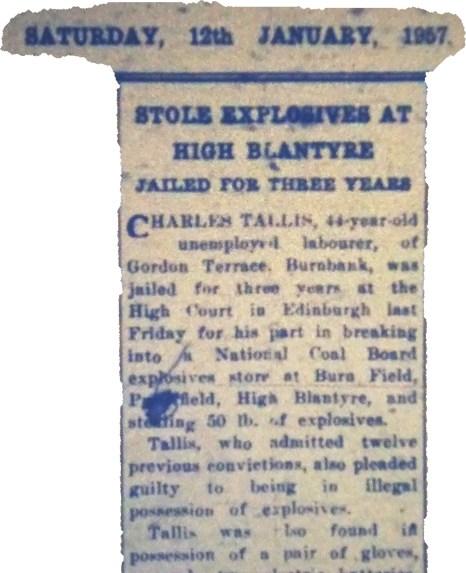 1957 Explosive Store theft