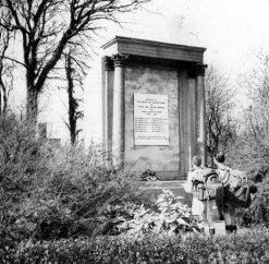 1950s Post WW2 Photo of Auchentibber War Memorial