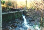 2005 Lees Burn enters the Calder at Bridge Mill by A Rochead