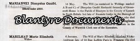Blantyre Documents