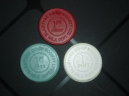 1960s Millk Co-op Tokens shared by C Gray