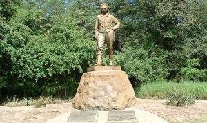 2015 David Livingstone Memorial Statue at Victoria Falls.