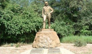 2015 David Livingstone Memorial Statue at Victoria Falls.