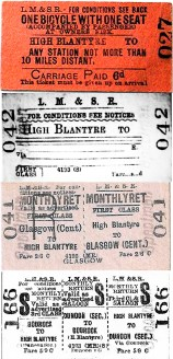 1930s or 40s Various Train Tickets. Shared by G Cook.