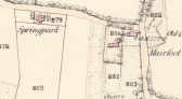 1859 Map of Springpark Pub, Auchentibber