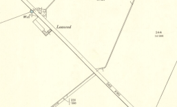 1898 Map showing Loanend Farm in ruins