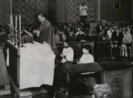 1955 Rev John C Battel giving mass St Josephs (PV)