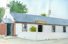 1908 Auchentibber Inn. Painted by R Thorpe for Blantyre Project